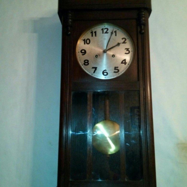 Старинные настенные часы junghans ходики.