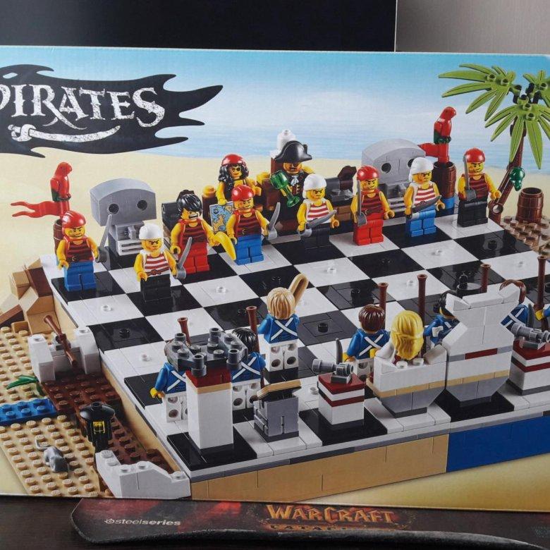 любят набор лего шахматы пираты паруса