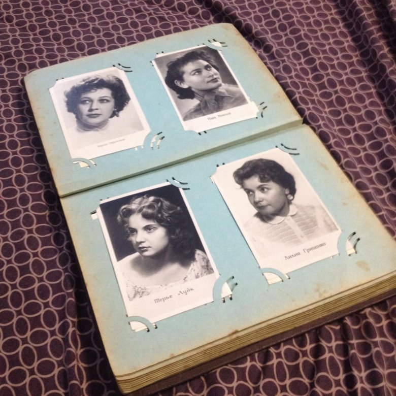 Коллекция открыток с актерами, любимая женщина