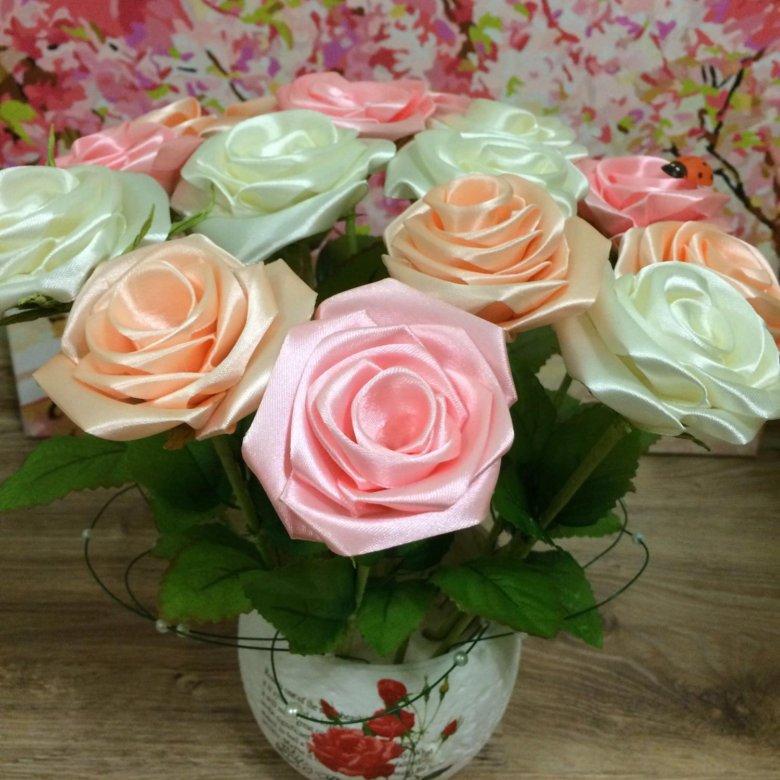Купить букет роз из ленточкой, цветы для