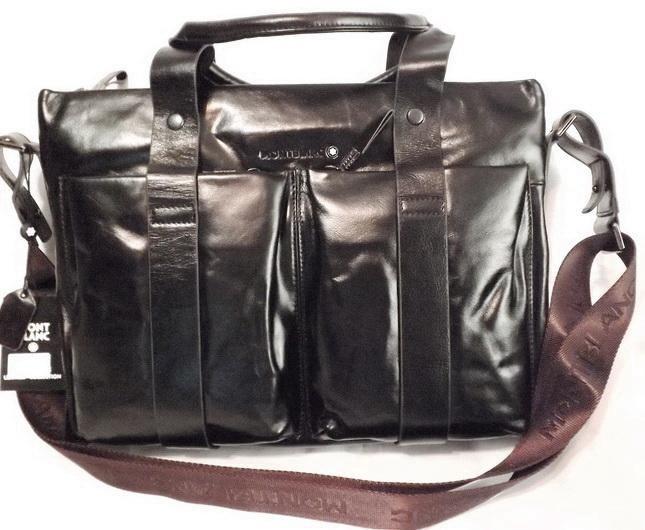 c84f1871f059 Мужская кожаная сумка montblanc brown A4 новая – купить в Москве ...