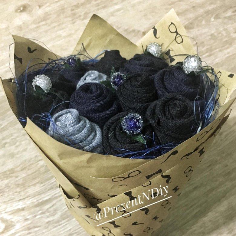 Мужские букеты на 23 февраля из носков, доставка цветов