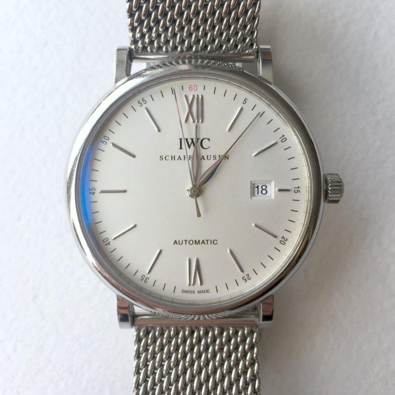a9f54c5c4826 IWC Portofino Automatic 40мм миланский браслет – купить в Москве, цена 140  000 руб., продано 29 марта 2018 – Аксессуары