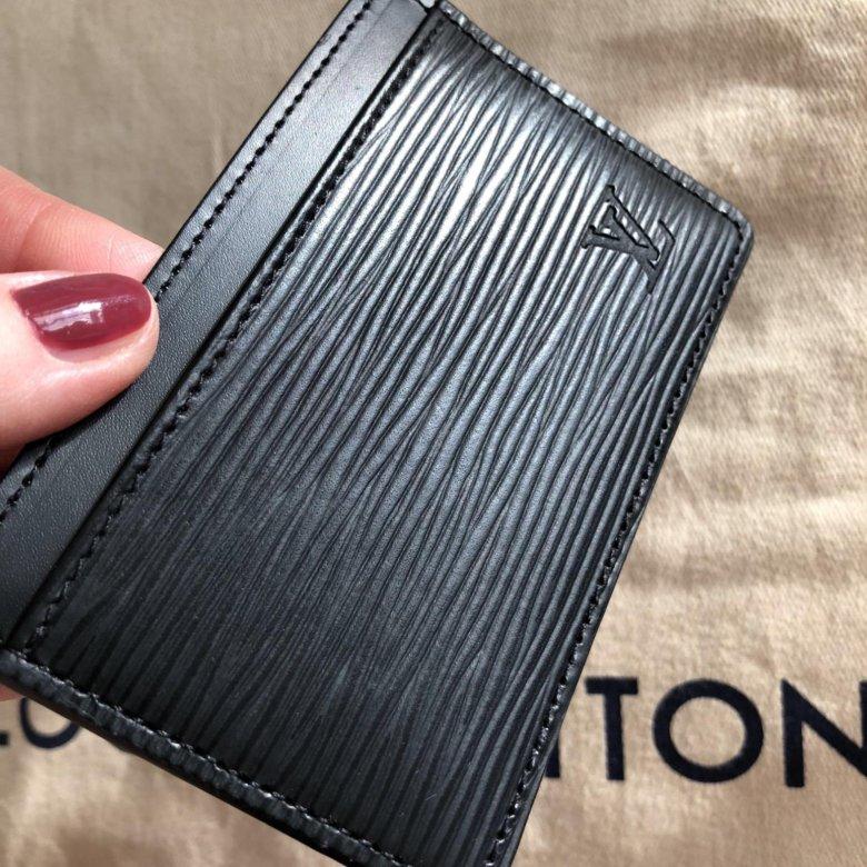 d411c2e631dc Кардхолдер Louis Vuitton оригинал чёрный кожа epi – купить в Москве, цена 9  500 руб., продано 13 марта 2018 – Аксессуары