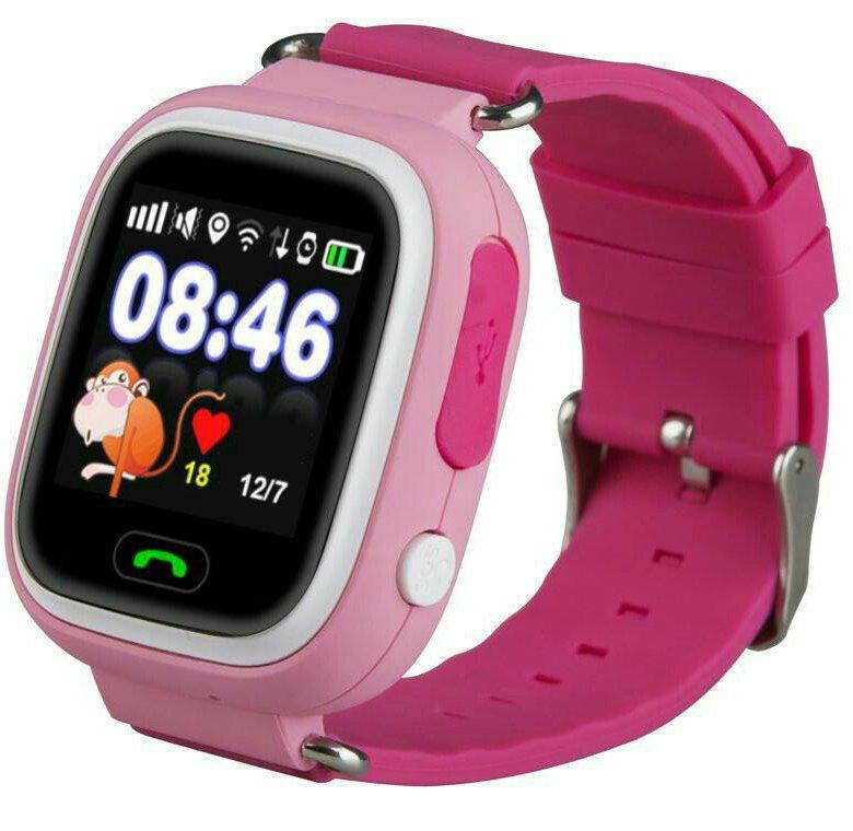 Устойчивое к царапинам  детские умные часы elari kidphone 2 pink.