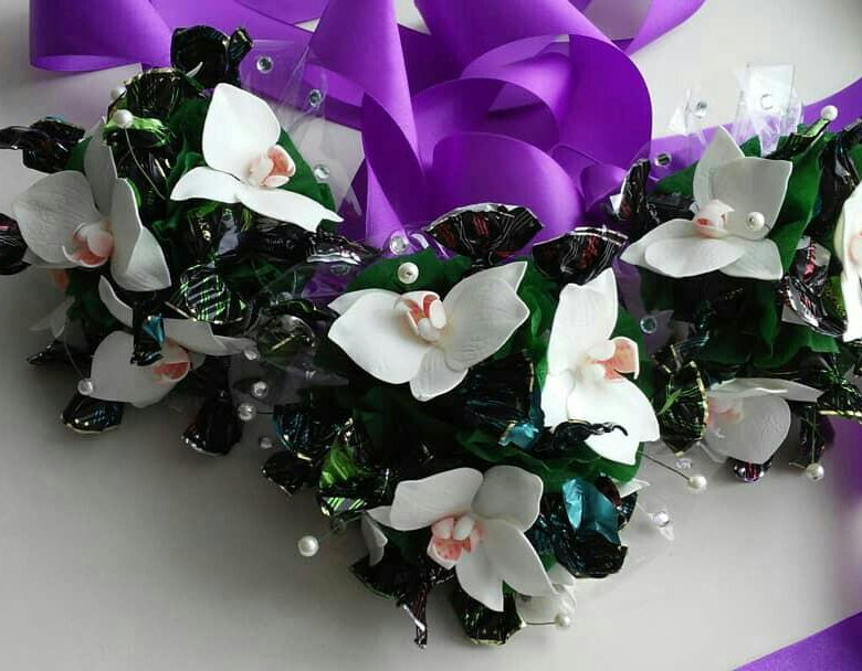 букеты из конфет орхидеи фото активной