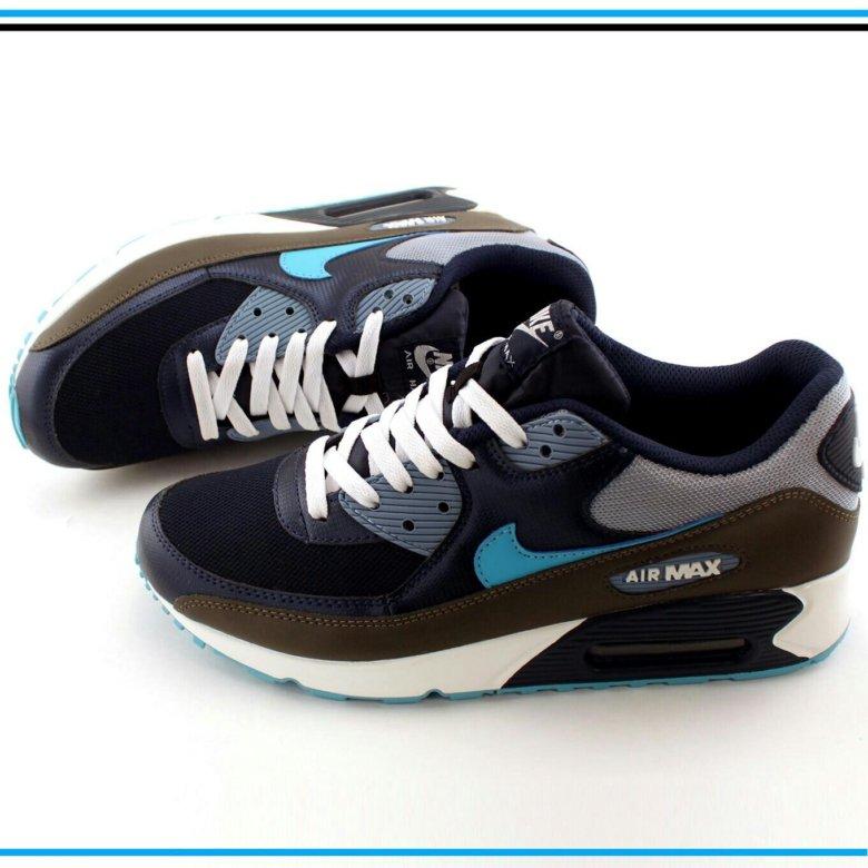 1ba5385d Кроссовки Nike Air Max 90 серые с синим – купить в Краснодаре, цена 2 799  руб., дата размещения: 23.04.2019 – Обувь