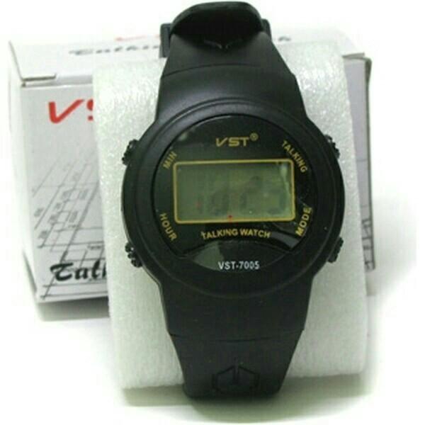 Более простой вариант — часы с голосовым оповещением времени.