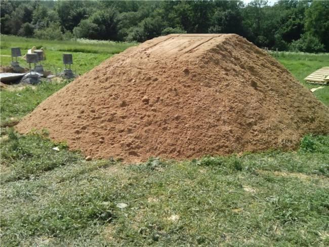 3 куба песка