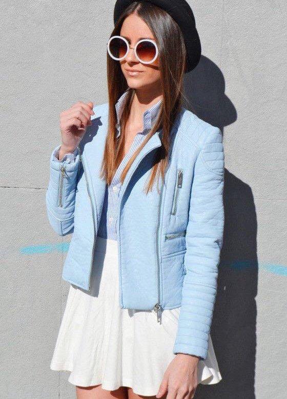 голубая куртка с чем носить фото увеличения