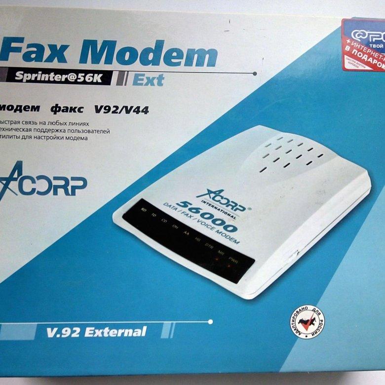 Acorp Sprinter 56k Ext V.92 Modem 64 BIT Driver