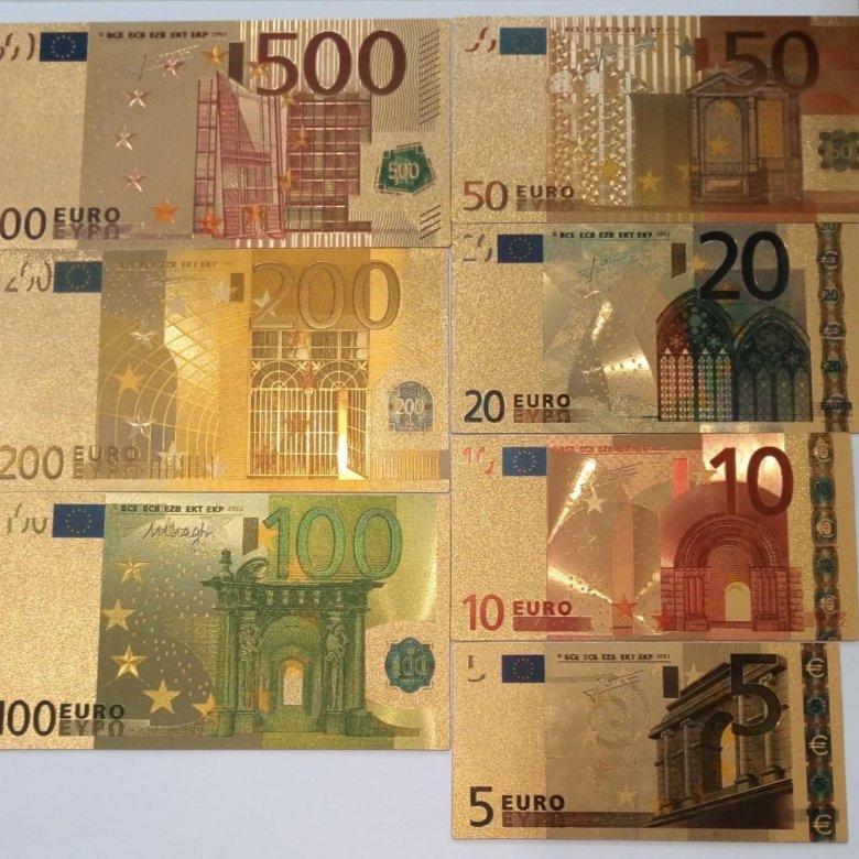 Фото банкнот евро присмотревшись
