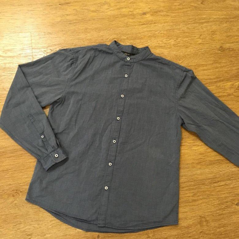 0f41ae1d3f1 Рубашка с воротником-стойкой ostin – купить в Омске