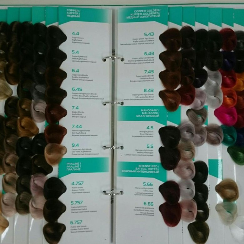 капус краска для волос палитра фото можно купить