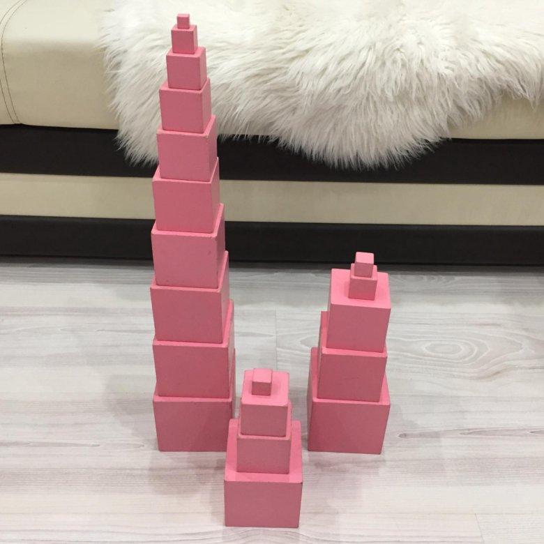 монтессори розовая башня фото картинки мест