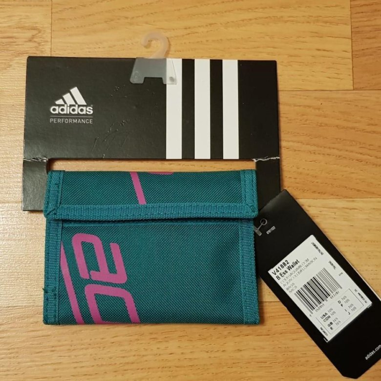 133003e1f251 Кошелек Adidas бирюзовый ткань новый – купить в Москве, цена 501 руб., дата  размещения: 07.06.2019 – Аксессуары