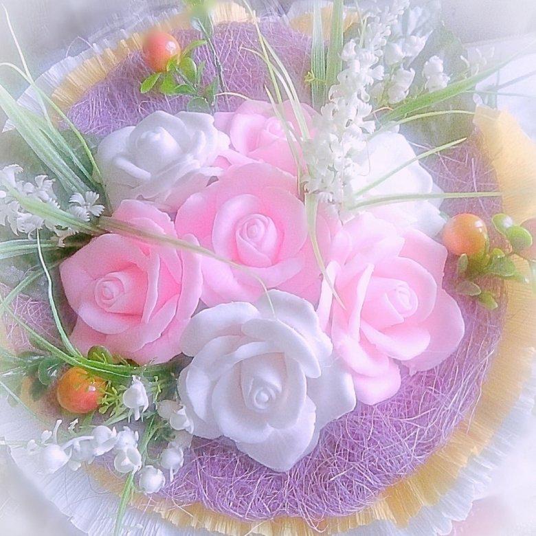 Мастер класс как сделать букет из мыла, букета роз