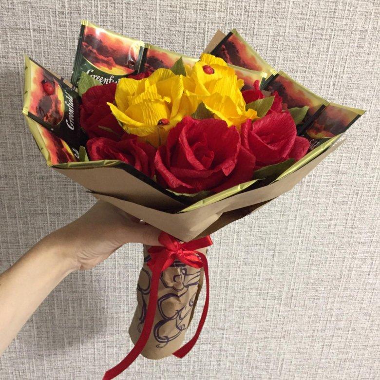 Цветов, букеты из конфет купить в уфе