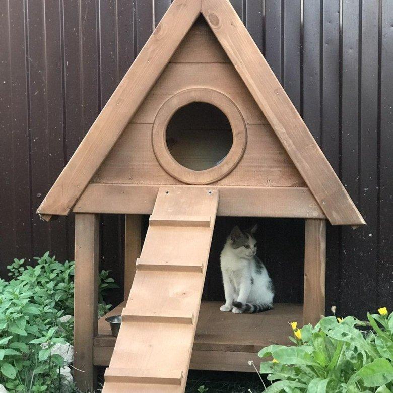 установка уличный домик для кошек фото только удивительно красивое
