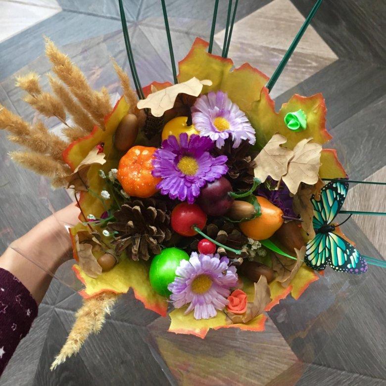 Цветов, букеты на осенний бал своими руками фото