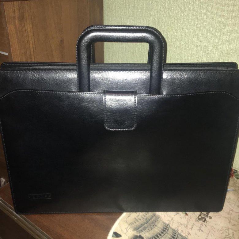 3c5f85ee8c38 Кожаный портфель Texier – купить в Москве, цена 2 000 руб., продано 25  декабря 2018 – Аксессуары