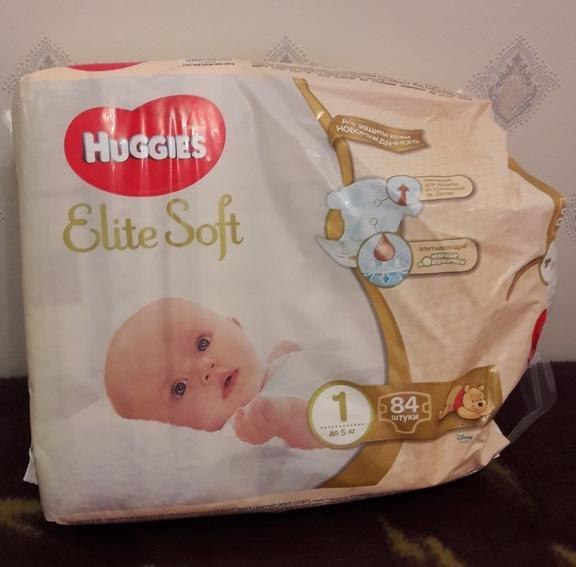 2e1046525dc7 Подгузники Huggies для новорожденных Elite Soft 1 – купить в Омске ...