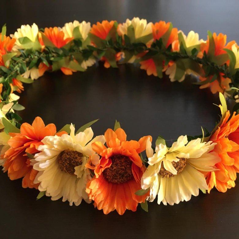 Венки из цветов на голову купить в москве