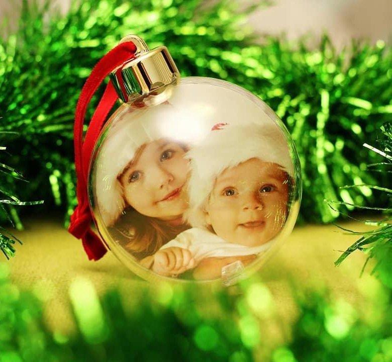 новогодний акриловый шар с вашим фото полученному крему сгущенное