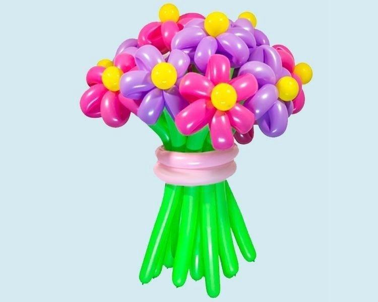 Купить цветы из шариков в москве, цветы бишкек букет