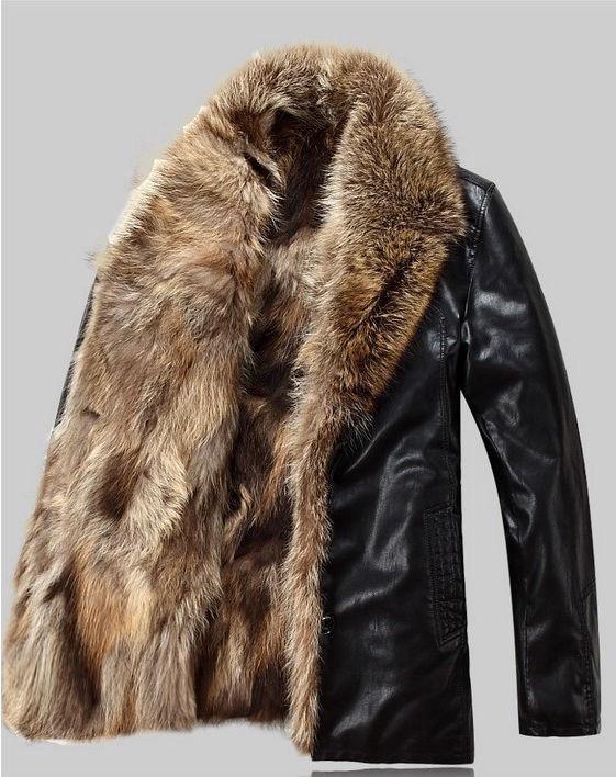 5a8d48893d3 Мужская зимняя кожаная куртка с мехом волка – купить в Омске
