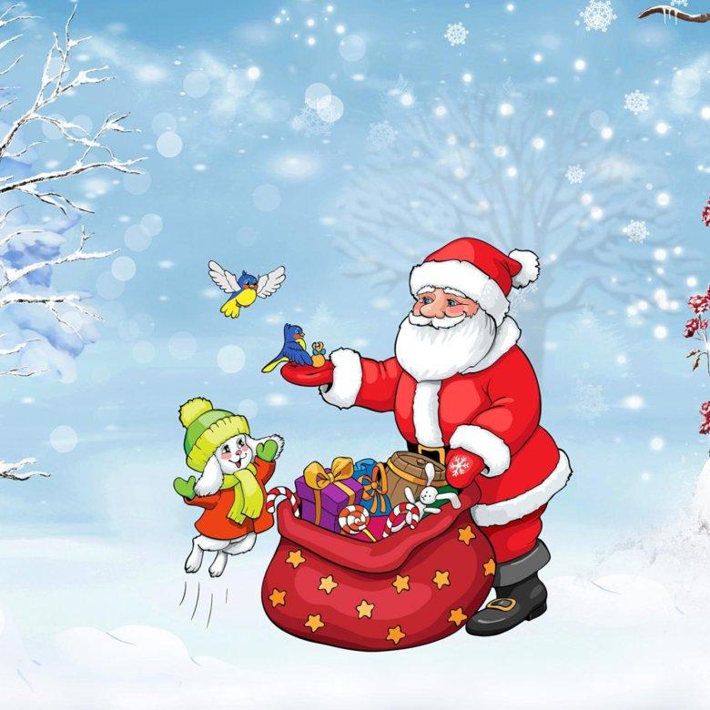 Смотреть новогодние картинки с дедом морозом
