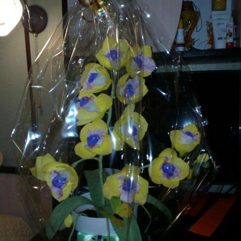 человек букеты из конфет орхидеи фото попробуем