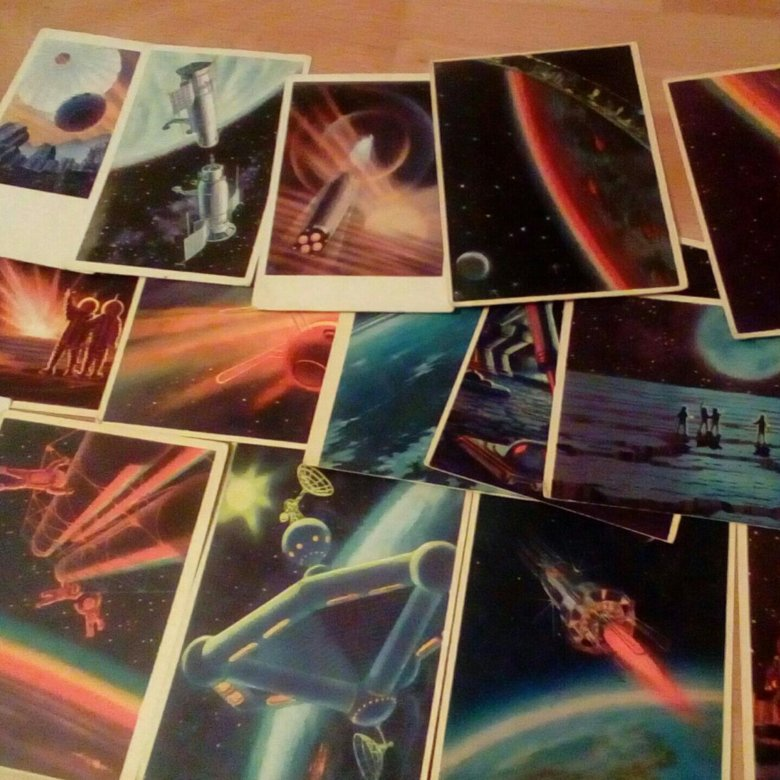 Наборы открыток космос