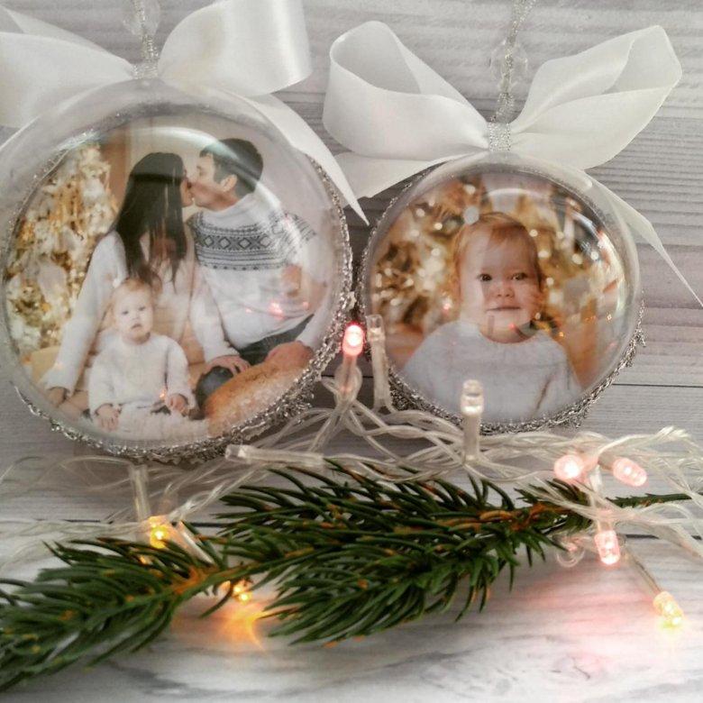 что новогодний акриловый шар с вашим фото семейство
