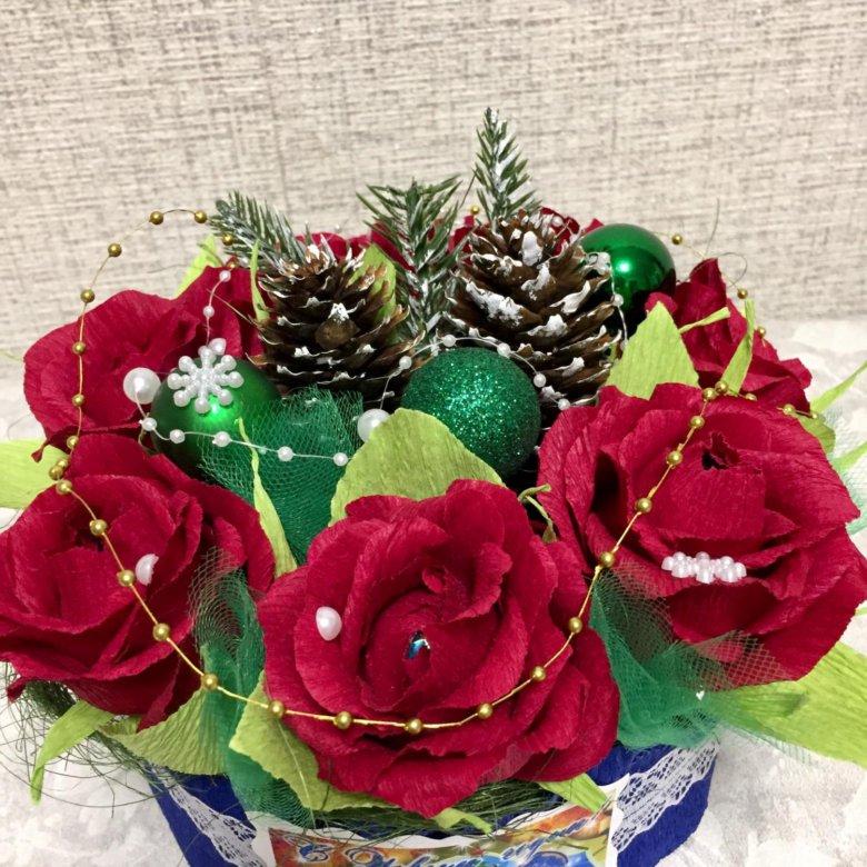 Букет цветов, букеты из конфет купить в уфе
