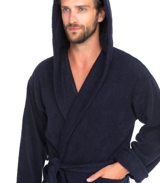500eaaee08907 Мужской махровый халат с капюшоном SPORT Life Е901 – купить в Москве, цена  3 080 руб., продано 6 марта – Домашняя одежда