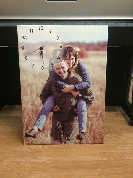часы на фото холсте москвы