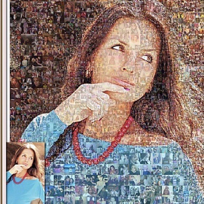 Картина из маленьких фотографий на заказ москва