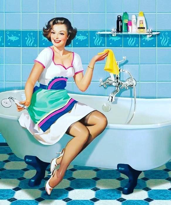 Старинные, картинки смешные уборщицы дома