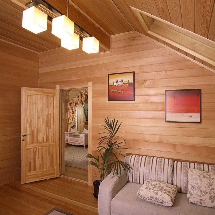 вагонка для отделки стен внутри дома