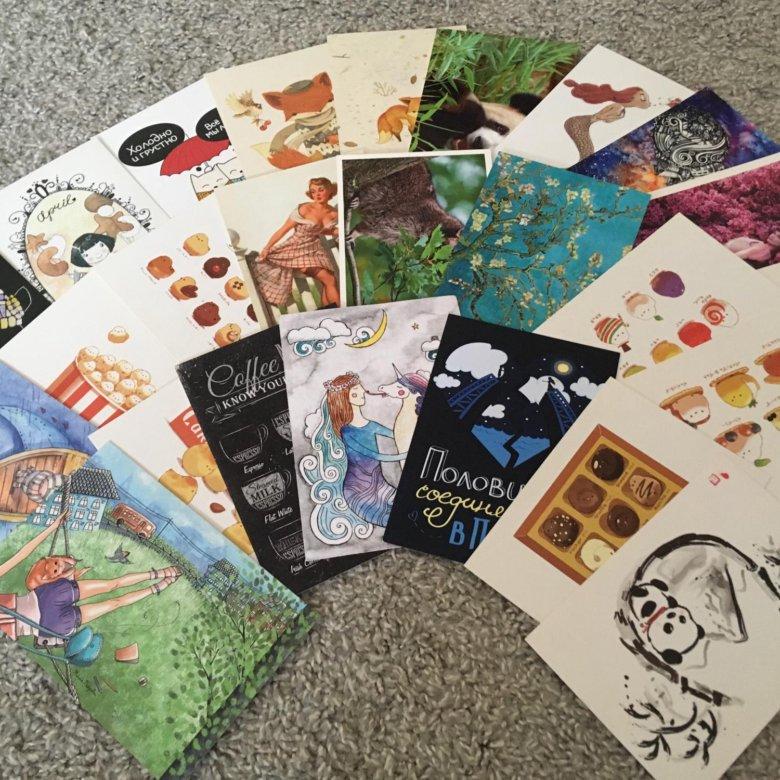 покупка почтовых открыток общественные