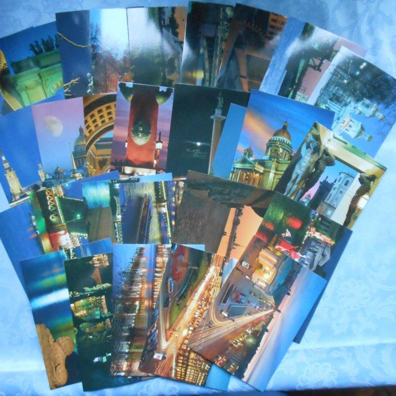 Оригами день, набор открыток с видами санкт-петербурга