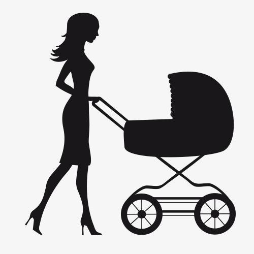Мамы с коляской картинки