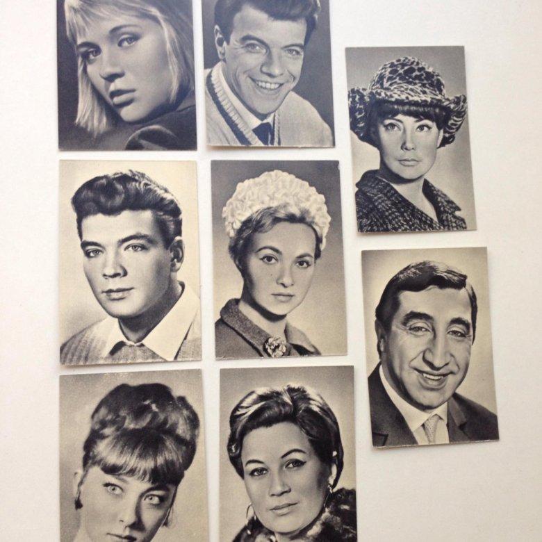 Актеры зарубежного кино на открытках