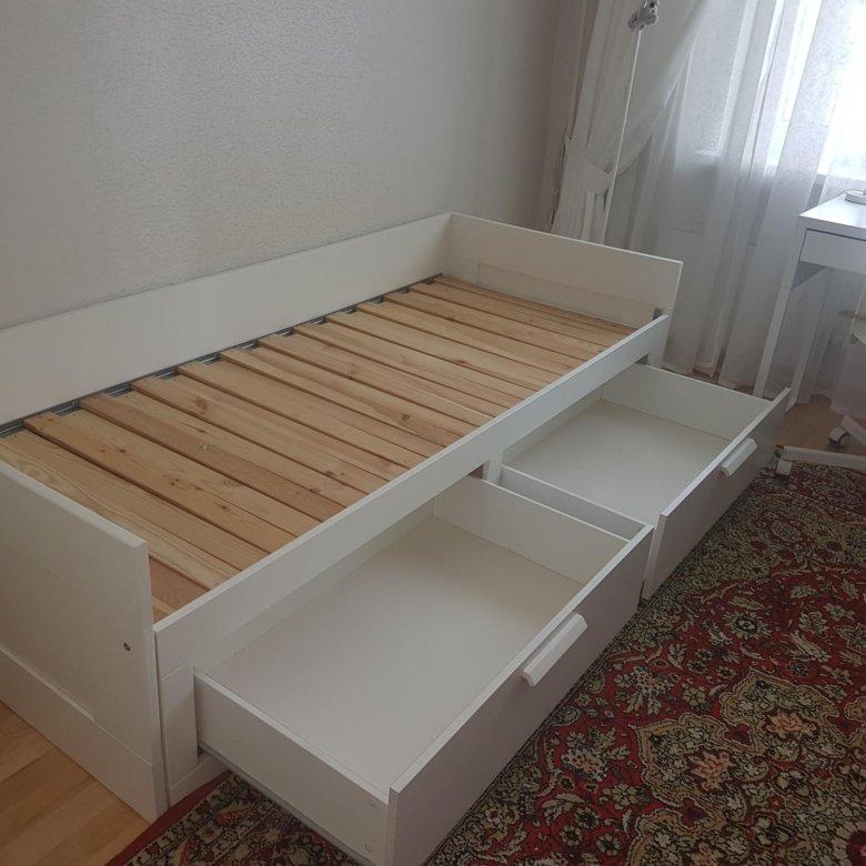 раздвижная кровать с ящиками для хранения фото один ребенок