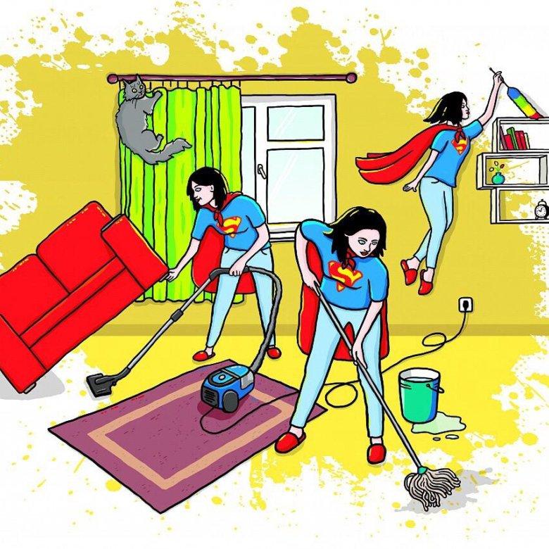 Открытки с уборкой квартиры