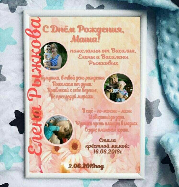 Плакаты поздравления с днем рождения крестному