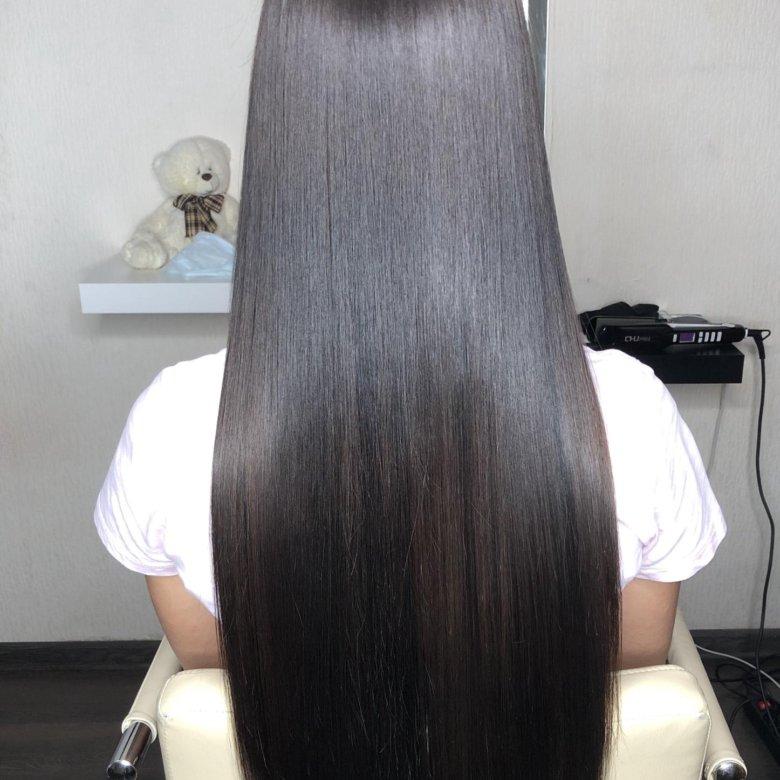 кератиновое выпрямление волос пошаговое фото