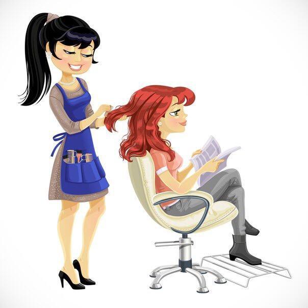 Мультяшный парикмахер в работе фото
