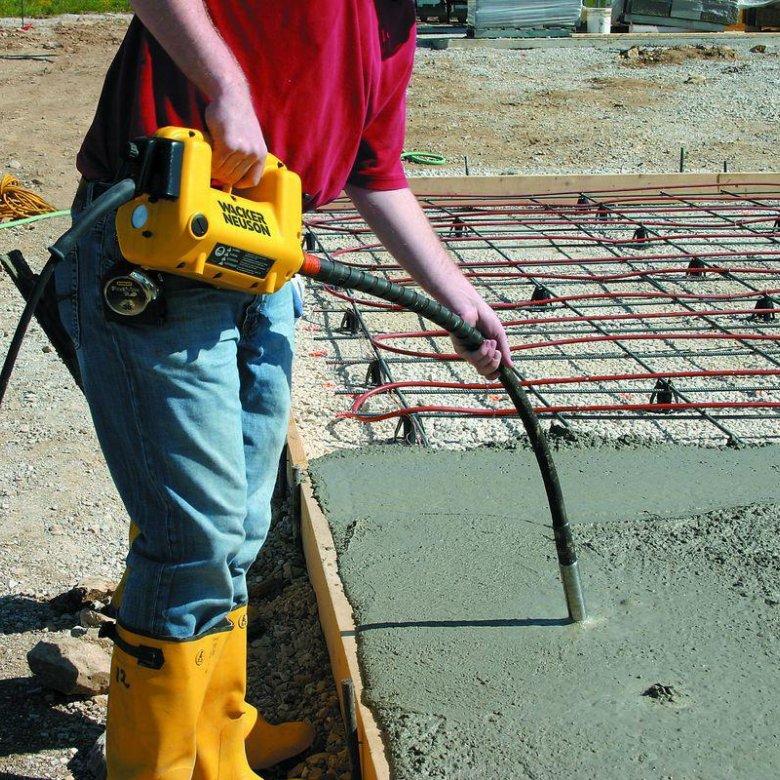 глубинный вибратор своими руками бетонный раствор